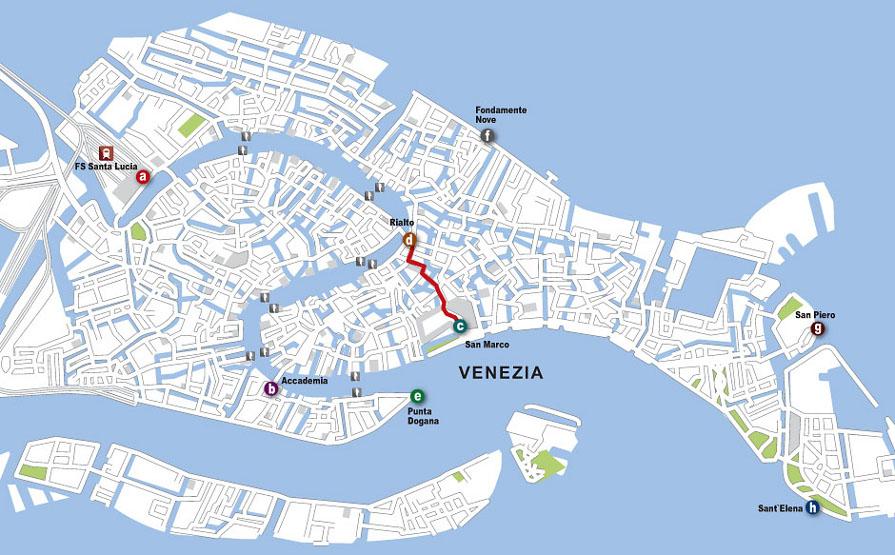 Cartina Venezia Download.Camminando A Venezia Istruzioni
