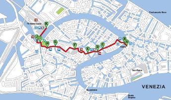 Cartina Venezia Download.Mappa Da Rialto Alla Stazione Di Santa Lucia